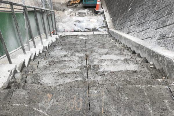 階段ウォールソー 施工完了その1