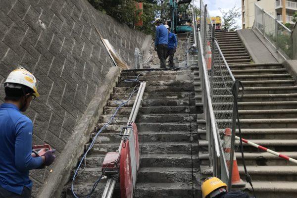 階段ウォールソー その5
