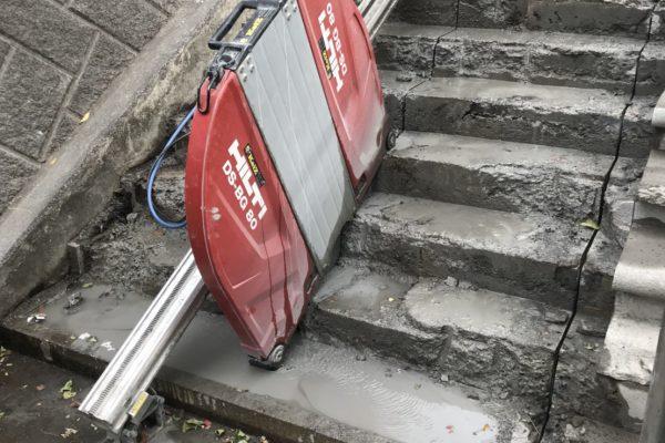 階段ウォールソー その4