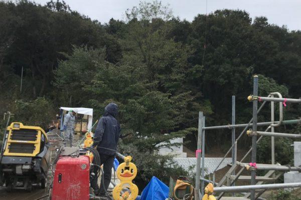 橋撤去 ワイヤーソー 4