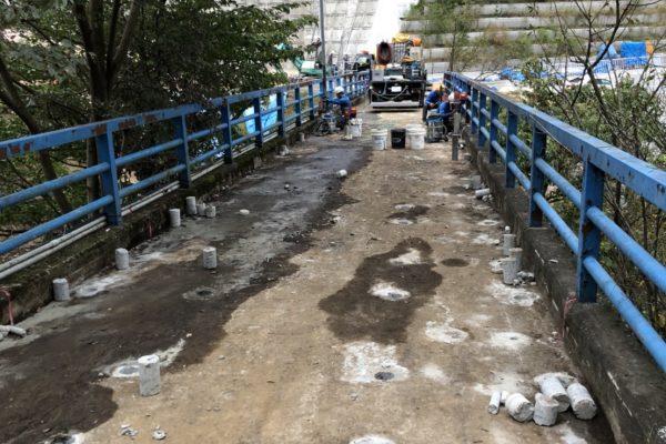 橋 撤去工事 準備コアー5